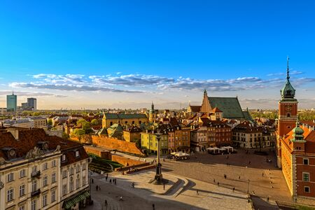 high dynamic range: Top view of the old town in Warsaw. HDR - high dynamic range
