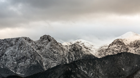 giewont: Mountain massif Giewont in the Western Tatra Mountains with a height of 1894 meters, Poland