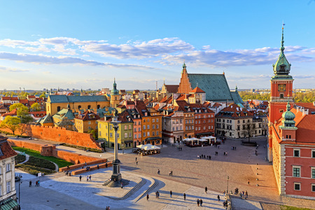 Top view of the old city in Warsaw. HDR - high dynamic range Foto de archivo