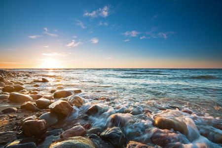 バルト海に沈む夕日