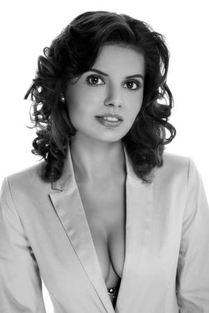 Portrait of a beautiful sexy brunette