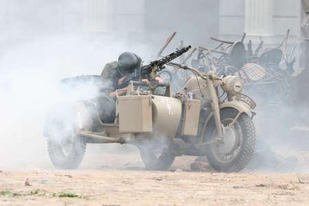 Battle scene at cinema city Cinevilla, in Latvia. Stock Photo - 5892617