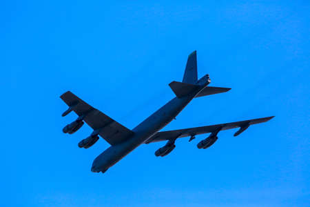 Bomber B-52. B-52 Stratofortress. International Military Training Saber Strike 2017, Adazi, Latvia, from 3 to 15 June 2017. US Army Europe-led annual International military exercise Saber Strike Field Training Exercise in Latvia. 新聞圖片