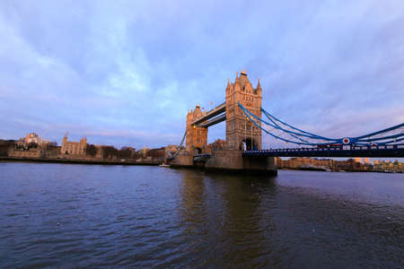 London tower bridge on the river thames one of Londons most famous landmarks Stock Photo