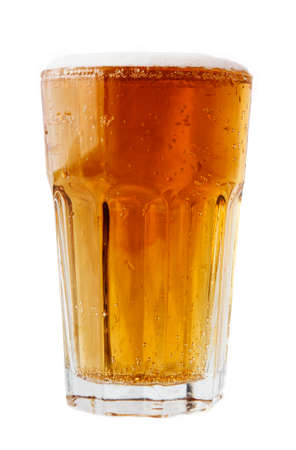 alehouse: glass of beer on white background