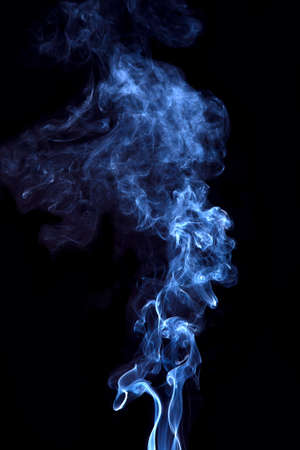 High Resolution Blue Smoke On Black Background Stock Photo Picture And Royalty Free Image Image 58632737