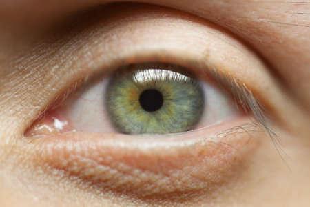 green eye: Green eye men. Close-up Macro Soft light