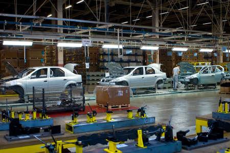 nissan: Togliatty, Samara region, Russia - December 13: Assembly line of LADA Cars Automobile Factory AVTOVAZ - on December 13, 2007 in Togliatty