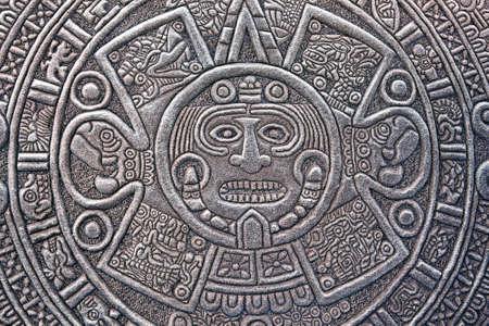 pagan: Pagan ornament of a tribe Maya. stone texture