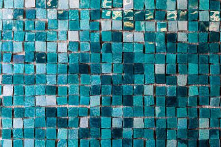 irregularity: Wall Small Squares green color Abstract Pattern mosaic