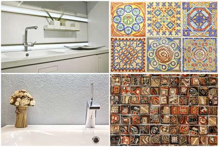Moderner Waschtischstil Im Bad Und In Der Küche Sowie Portugiesische Fliesen