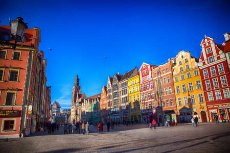 Wroclaw, Poland - Jan 6, 2014: Market Square is one of the largest squares in Europe Editorial