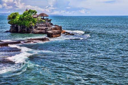 spiritual architecture: Tanah Lot Temple on Sea in Bali Island Indonesia