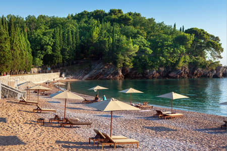 sithonia: Umbrellas on the beach view