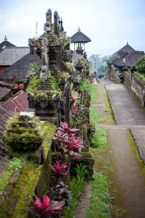 Ancient road to the temple in the Balinese jungle, Indonesia