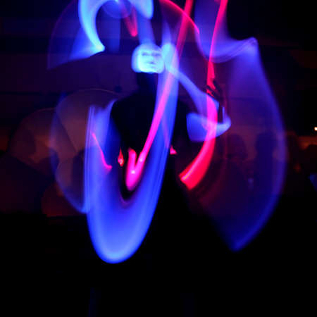 Abstract Colourful laser show light in night