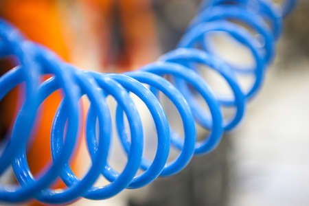 convolute: Twisted blue hose