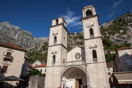 Kotor.Montenegro. September 2018 Church of Saint Tryphon in the old town of Kotor.Montenegro.