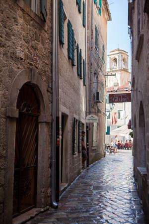 Old Town Kotor, Montenegro. September 2018 The first mention of this city - more than 26 centuries ago. We see ancient houses, a very narrow street