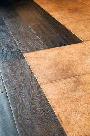floor tile imitating wood for parquet close up background texture Stok Fotoğraf