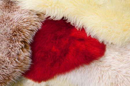artificial fur carpets of different colors