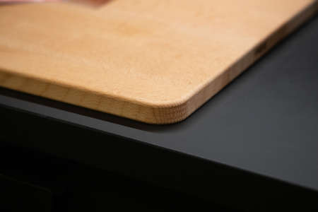 Cutting Board on the kitchen table close-up