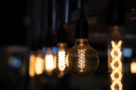 Decoración de bombilla de iluminación vintage, lámpara incandescente estilo retro