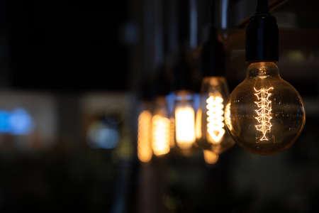 Vintage lighting Bulb decor , Incandescent Lamp Retro style