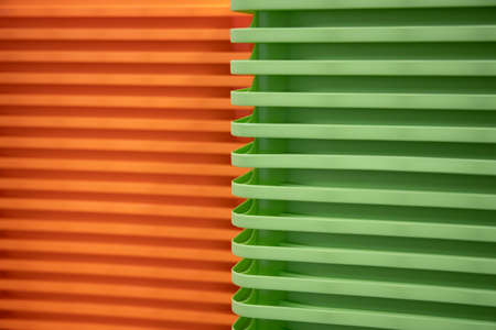 modern backdrop green and orange Colorful patterns. Abstract geometric shapes. Background.
