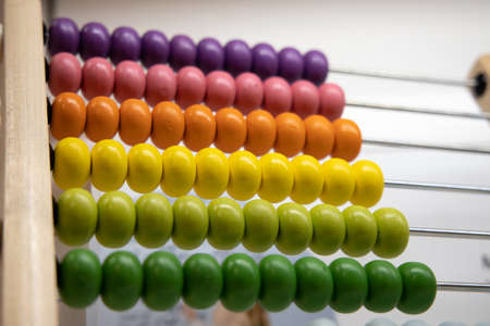Colorful abacus with shallow depth of field