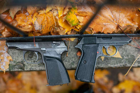 two handgun. the concept of crime and criminality