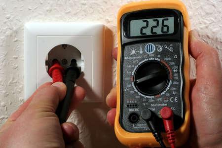 Voltage measure Stock Photo