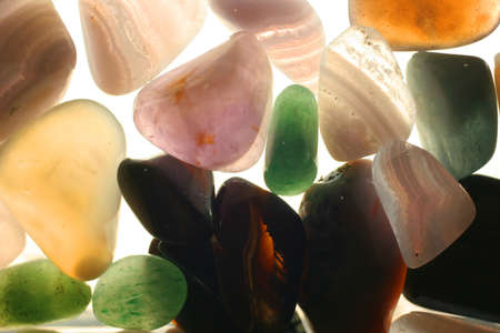 semiprecious: Colorful semi-precious stones are light. Stock Photo