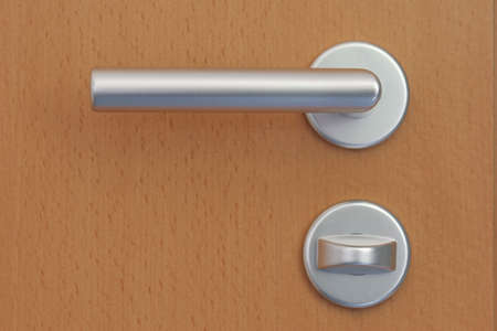 With the door handle, the door is opened by the man in the next room can occur. photo