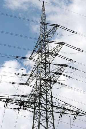 About the lines in the power generated electricity distributed. Stock Photo - 5112063