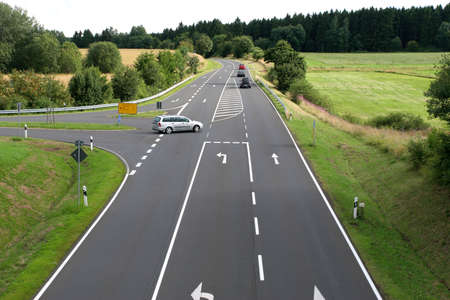 About roads, the traffic flows between localities. photo