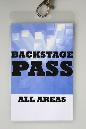 For the stage area you only get a backstage pass access. Stock Photo - 5635847