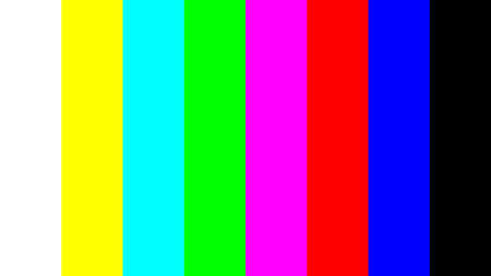 With a color bar test pattern as a way to assess the quality of monitors. He is also a beautiful background. Standard-Bild