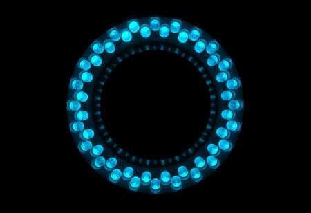 leds: 48 LEDs cian est�n dispuestas en el anillo.  Foto de archivo