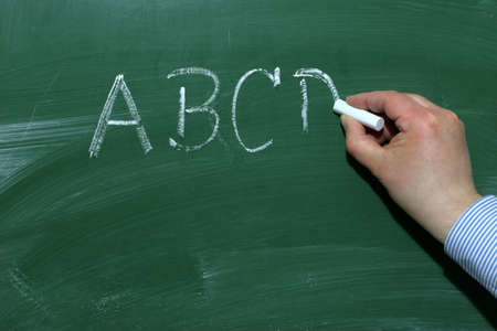 At a blackboard information is displayed clearly visible. Stock Photo - 6095053