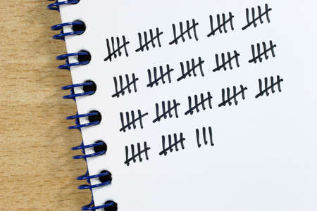 counted: When counting a tally sheet is often very useful.