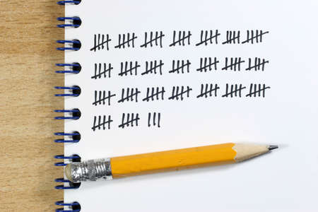 When counting a tally sheet is often very useful. Stock Photo - 6123794
