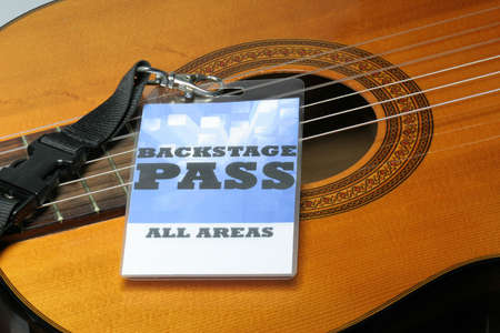 For the stage area you only get a backstage pass access. Stock Photo - 6432377