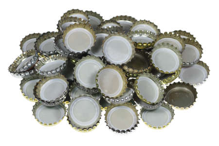 Bottle Caps must be removed to open bottles. Stock Photo