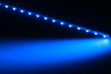 lightbar: With blue LEDs can be very interesting light effects are produced. Stock Photo