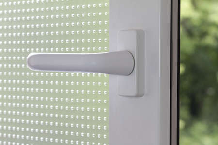 windows frame: With a window handle to the window open and window closed.