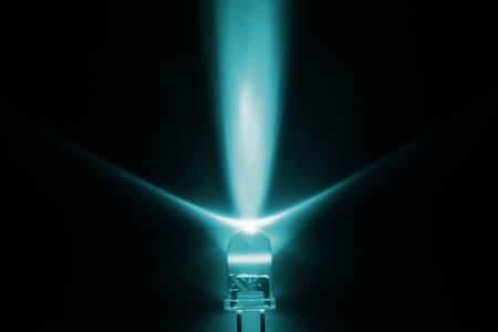 emitting: We used the light from light emitting diodes in the future more and more. Stock Photo