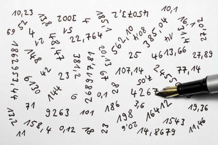 Numbers are an important part of our lives. photo