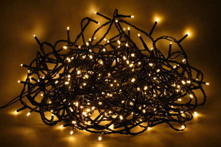 Chain of lights with LEDs create an atmospheric lighting.