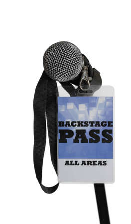For the stage area you only get a backstage pass access. Stock Photo - 9953641